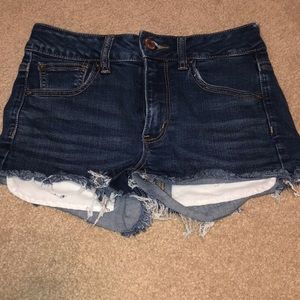 American Eagle HighRise Shortie Jean Shorts